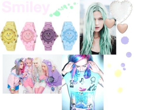 smiley-pastel;sea-punk-watches-happy-face
