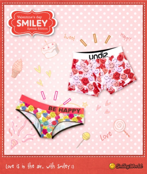 Smiley emoticon emoji Undiz underwear