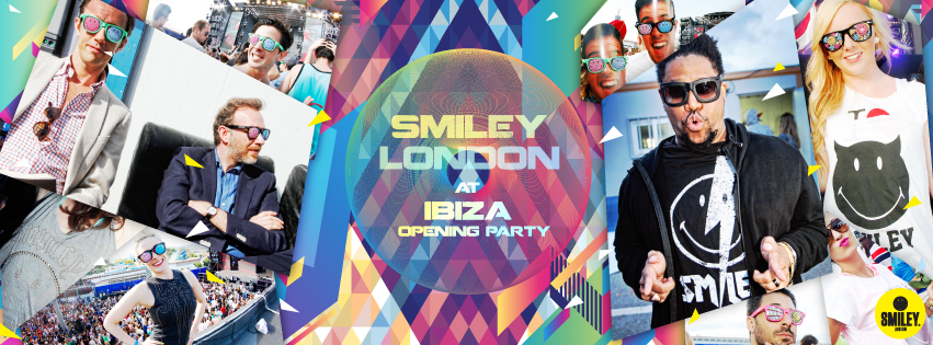 Smiley London goes at Space opning party in Ibiza