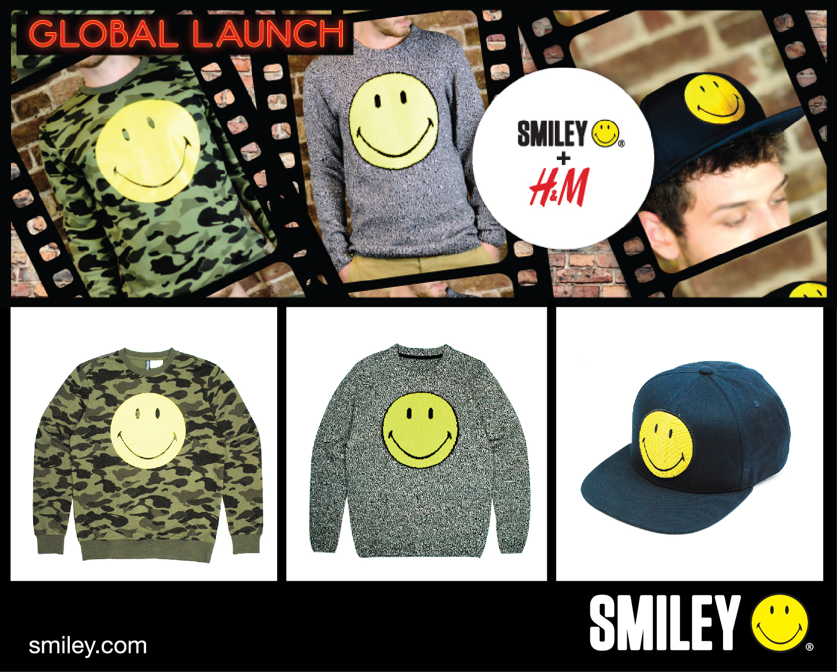 H&M and  smiley menswear